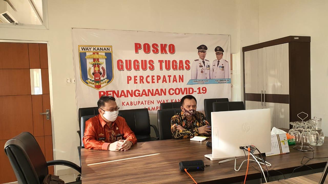 Wabup Way Kanan Rakor Bersama Mendagri dan Komisioner KPU RI Terkait Pilkada 2020