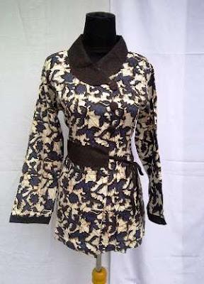 model baju batik kerja guru wanita