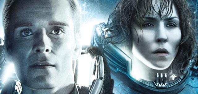 Prometheus 2: cercetătoarea Shaw (Noomi Rapace) și a androidul David (Fassbender)