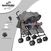 Kereta Dorong Bayi Spacebaby SB1013 Twins Baby Stroller