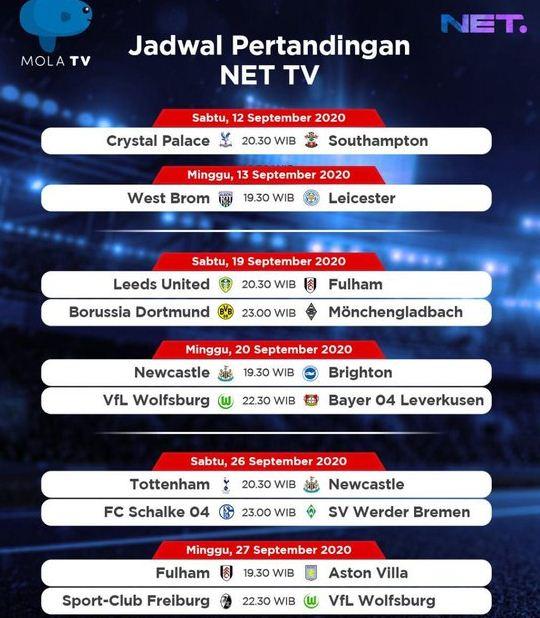 Jadwal Siaran Langsung Liga Inggris di NET TV