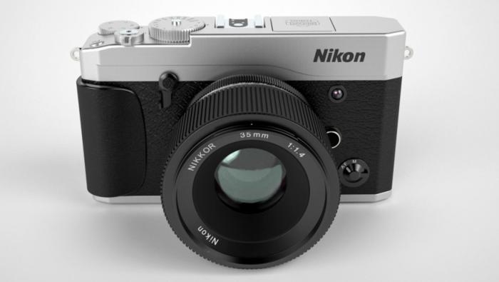 Возможный дизайн беззеркальной камеры Nikon