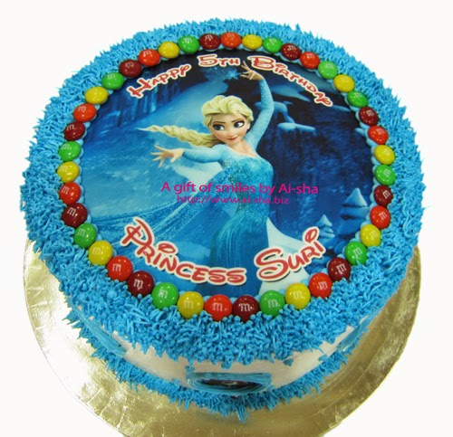 Rainbow Cake Edible Image Frozen