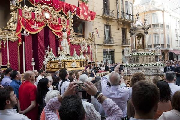 Horario e Itinerario Procesión Cofradía de la Sagrada Cena al presidir un altar para el Corpus de Málaga