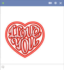 I love you stamp - sticker for Facebook