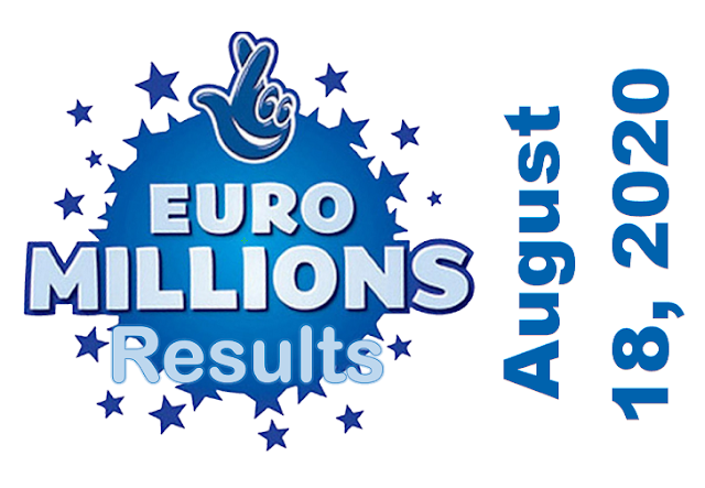 EuroMillions Results for Tuesday, August 18, 2020