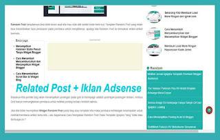 Membuat Related Post Plus Iklan Adsense di Tengah Postingan Blog