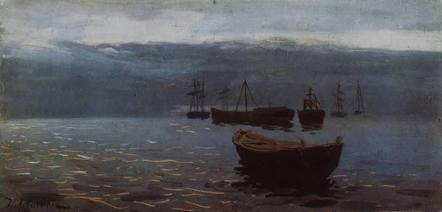 Исаак Ильич Левитан - На Волге. К вечеру. 1888