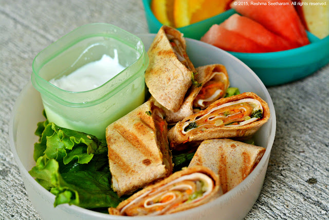 Grilled hummus wraps