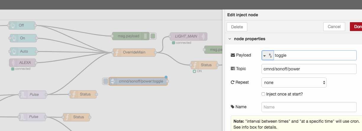Mi configuración de Node-Red , Tasmota | ProyectosGUS