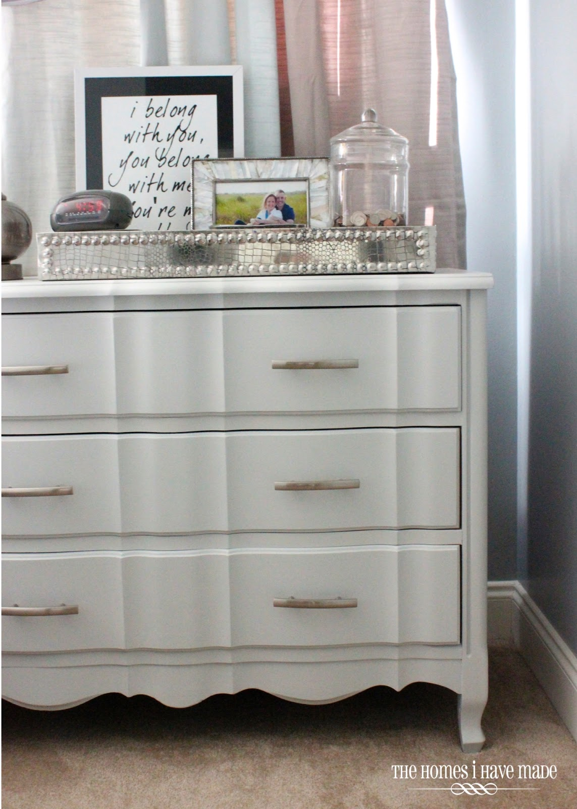a modern makeover for a classic piece a little grey dresser the homes i have made. Black Bedroom Furniture Sets. Home Design Ideas