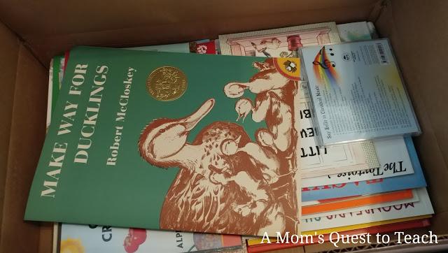 children's books in box