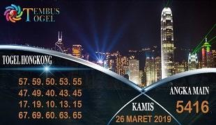 Prediksi Togel Hongkong Kamis 26 Maret 2020