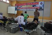 Polres Purbalingga Kirim Personel Ikuti Donor Darah HUT TNI AU