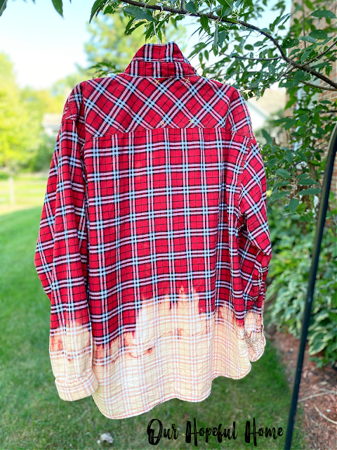 rear view bleached flannel shirt
