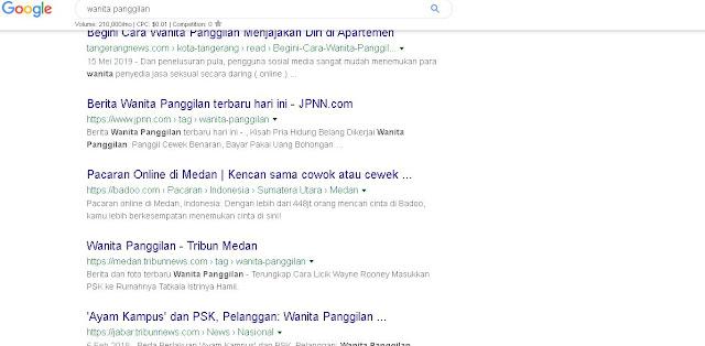 banyak orang mencari wanita panggilan di google