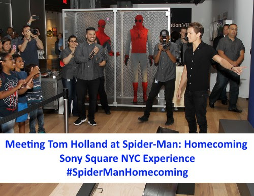 Meeting Tom Holland at Sony Square NYC Spider-Man ...