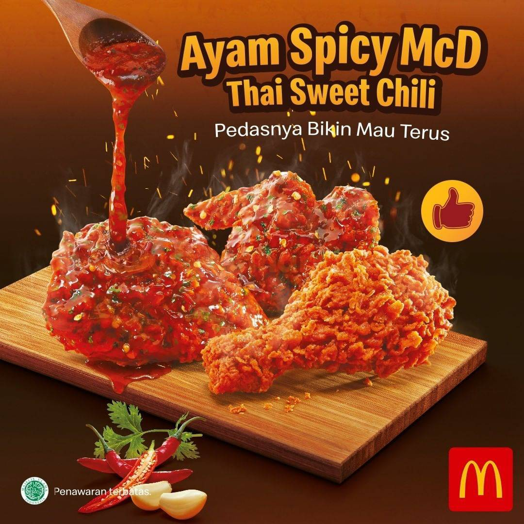 McDonalds Menu Ayam Spicy McD dengan Thai Sweet Chili Sauce