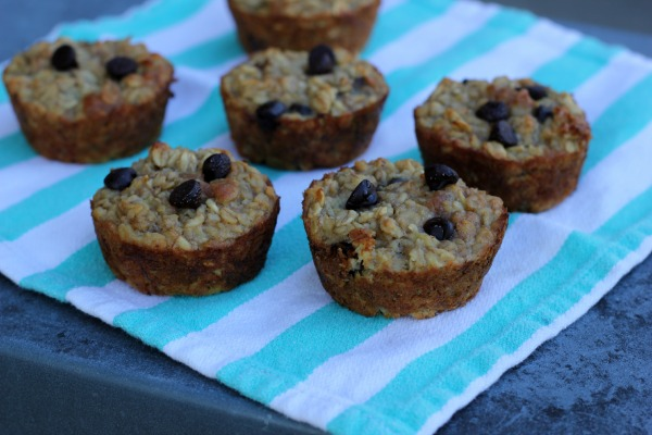Peanut Butter Chocolate Chip Oatmeal Muffins