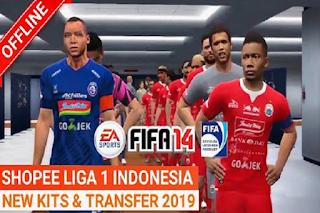 Anda jangan lupa untuk Unduh juga file  Download FIFA 14 Shopee Liga 1 by Dananx