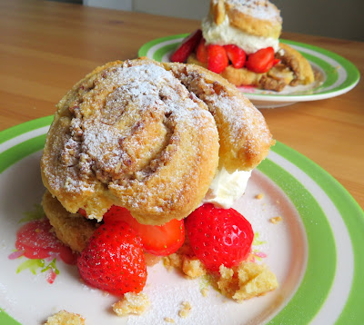 Pecan Swirl Strawberry Shortcakes