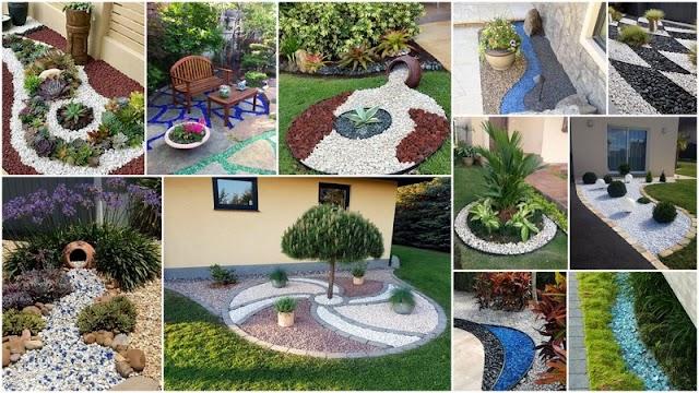 Διαμόρφωση Κήπου - Παρτεριών με Διακοσμητικές Πέτρες