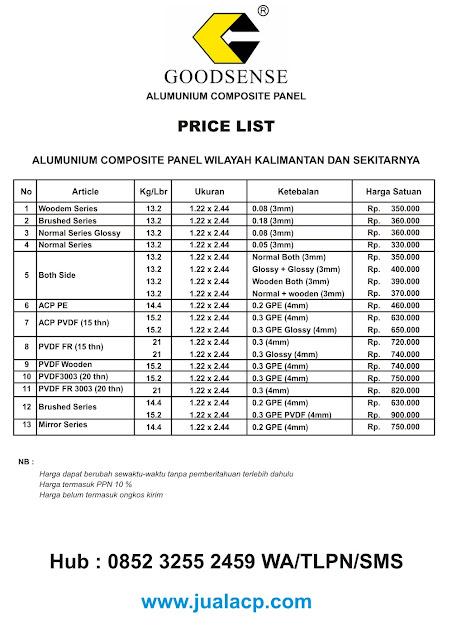harga acp goodsense kalimantan | harga acp murah kalimantan