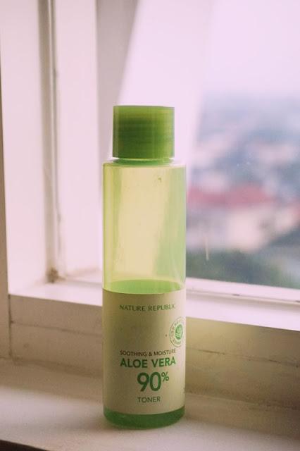 shooting and moisturizing toner, 90% aloe vera toner, nature republic