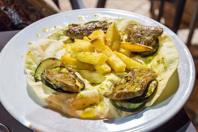 Plato del restaurante Montecruz en Aracena