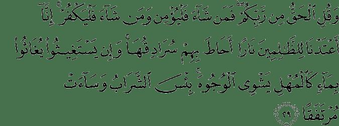 Surat Al Kahfi Ayat 29
