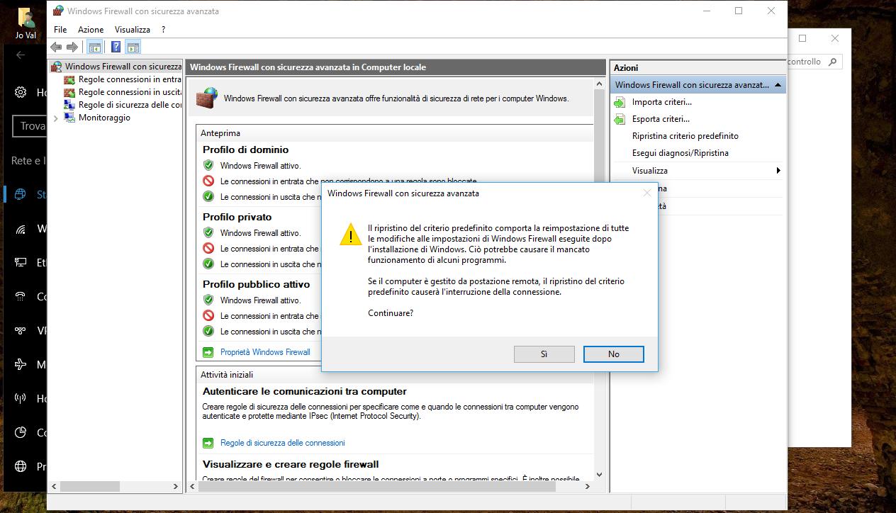 Come reimpostare il Firewall predefinito in Windows 10 5 HTNovo