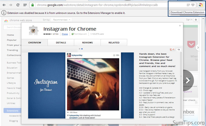 Chrome Web Store in Opera 15