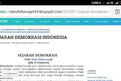 Blog dekafirhansyah94.blogspot.com sudah 6 tahun rupanya 😅