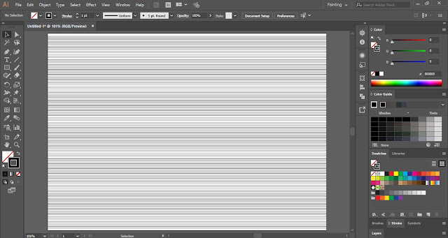 Abstract Line Background in Adobe Illustrator