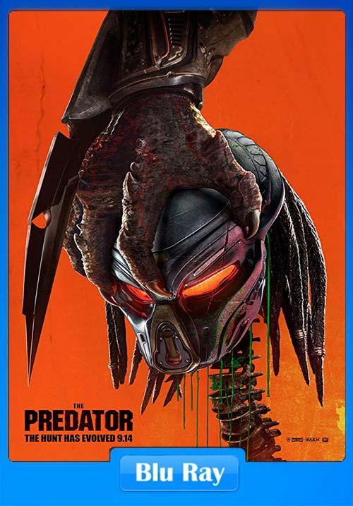 The Predator 2018 Dual Audio Hindi 720p BluRay ESubs x264   480p 300MB   100MB HEVC Poster