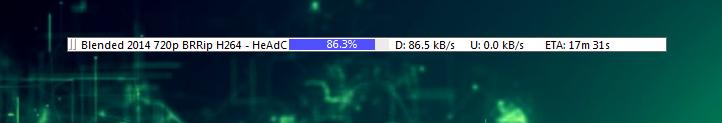 torrent download bar
