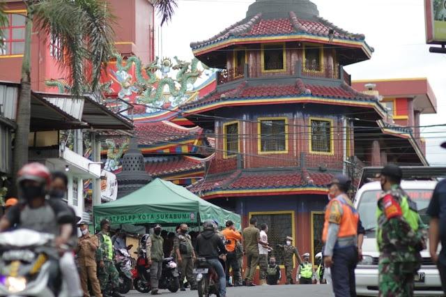 Satpol Jabar Gelar Opsgab Yustisi Prokes di Kota Sukabumi, Terjaring 174 Pelanggar Dalam 3 Jam
