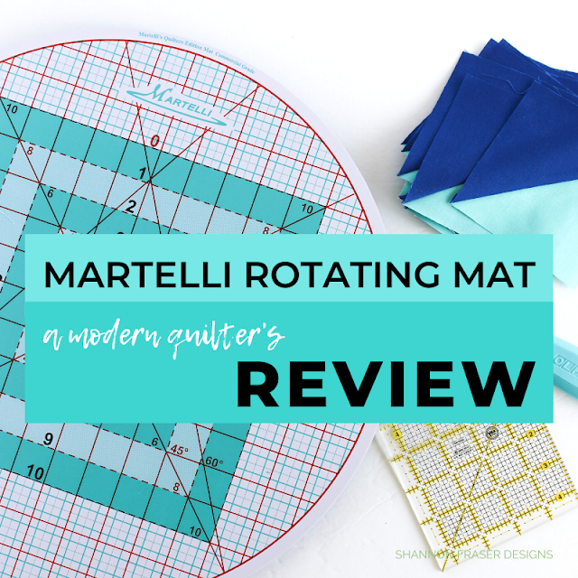 Martelli Round-about Cutting Mat Review | Shannon Fraser Designs #quilting #quiltingtool #sewingnotions