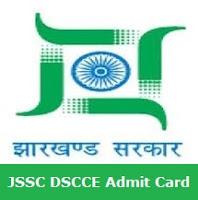 JSSC DSCCE Admit Card