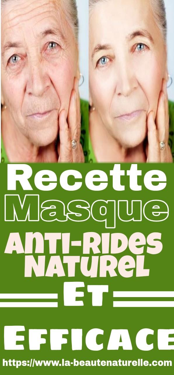 Recette masque anti-rides naturel et efficace