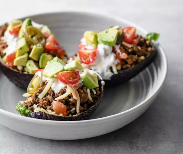Keto Avocado Taco Boats