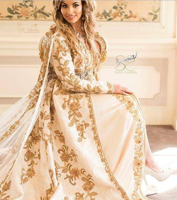 caftan beige de luxe pour mariée 2021 paris