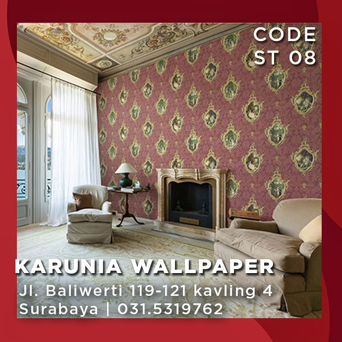 jual wallpaper ornamen klasik