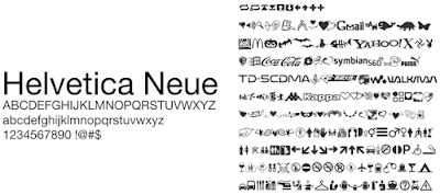 Font Helvetica Neue UNICODE Mtz