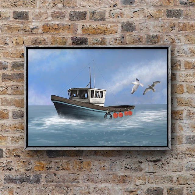 Osprey, Fishing Boat Art, Mark Taylor,