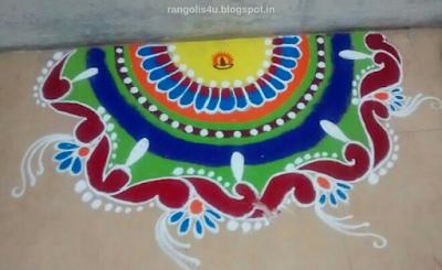 Sei Circle Rangolis