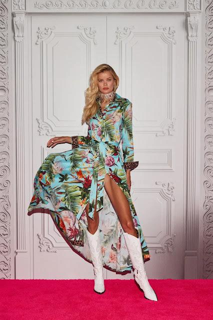 Philipp Plein Spring Summer 2022 with model Frida Aasen