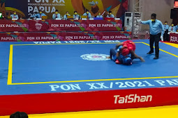 Moria Manalu, Atlet Wushu Sanda Masuk Final PON XX Klaster Merauke