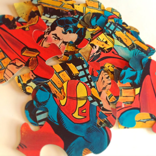 Superman giant puzzle poster