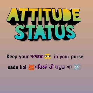 Punjabi attitude status collection 2019
